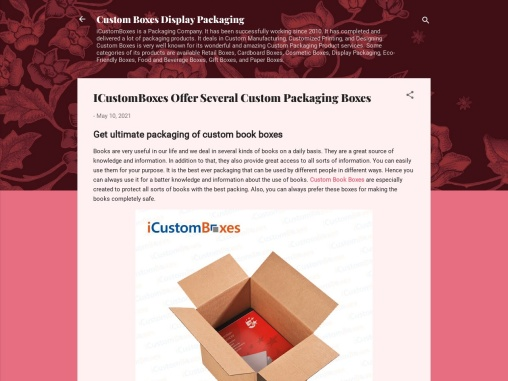 ICustomBoxes Offer Several Custom Packaging Boxes