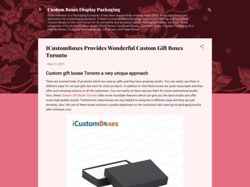 ICustomBoxes Provides Wonderful Custom Gift Boxes Toronto