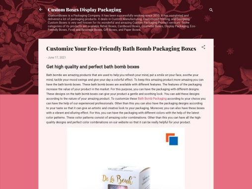 Customize Your Eco-Friendly Bath Bomb Packaging Boxes