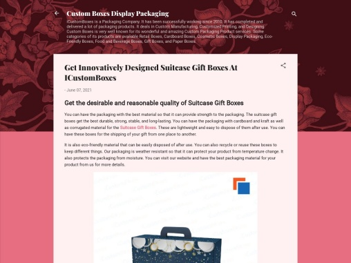 Get Innovatively Designed Suitcase Gift Boxes At ICustomBoxes