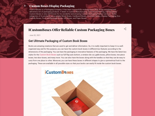 ICustomBoxes Offer Reliable Custom Packaging Boxes