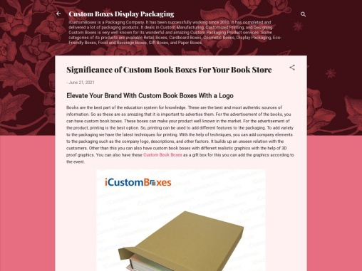 Significance of Custom Book Boxes For Your Book Store