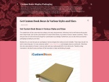 Get Custom Book Packaging in Various Styles and Sizes