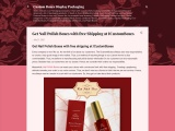 Get Nail Polish Packaging with free Shipping at ICustomBoxes
