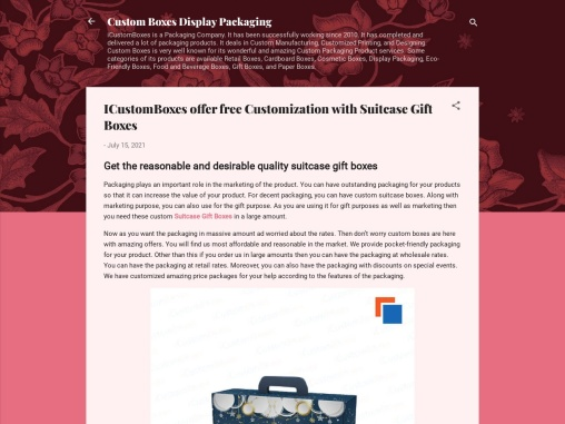 ICustomBoxes offer free Customization with Suitcase Gift Boxes