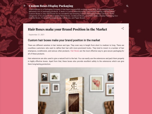 Hair Boxes make your Brand Position in the Market