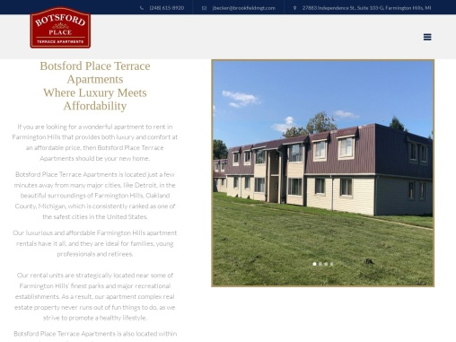 Farmington Hills Apartments – Botsford Place Terrace Apartments