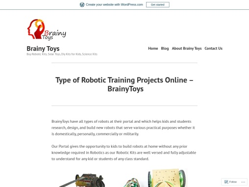 Robotic Projects for Kids & Students – Electronics Coding Project – Build New Robots at Home – Brain
