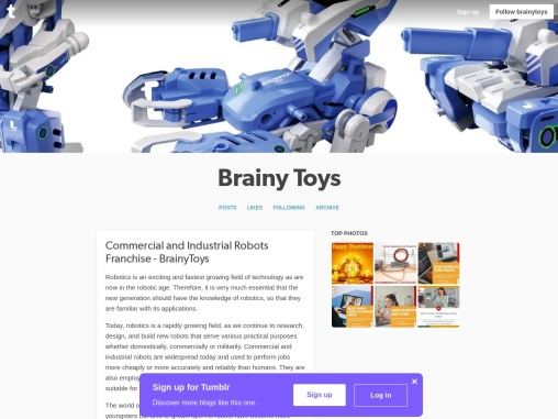 Commercial and Industrial Robots Franchise Business Opportunity in India – BrainyToys