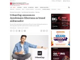 UrbanClap announces Ayushmann Khurrana as brand ambassador
