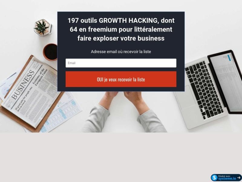 ma liste de 197 outils growth hacking