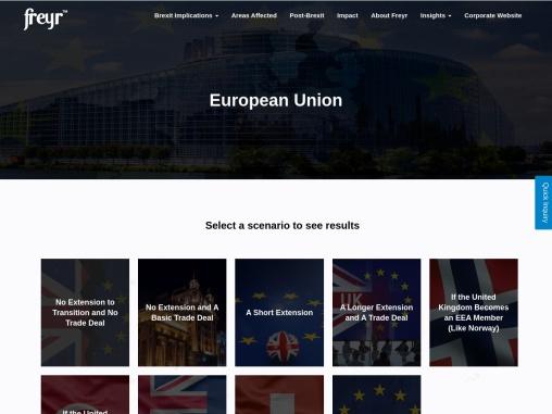 Post Brexit Registration, Brexit consequences for EU, European Union