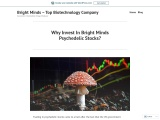 Why Invest In Bright Minds Psychedelic Stocks?