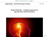 Bright Minds Bio – A Modern Approach To Age-Old Brain Health Disorders
