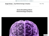 Know Everything About Biotechnology Company