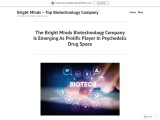 The Bright Minds Biotechnology Company Is Emerging As Prolific Player In Psychedelic Drug Space