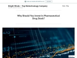 Why Should You Invest In Pharmaceutical Drug Stock?