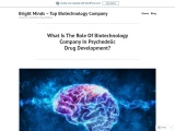 What Is The Role Of Biotechnology Company In Psychedelic Drug Development?