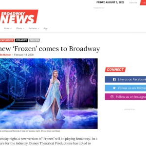 A new 'Frozen' comes to Broadway | Broadway News