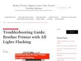 How to fix Brother Printer light error?