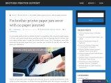 How can I fix the paper jam problem in Brother printer?