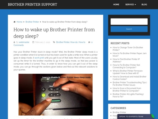 Why do I see Brother Printer deep sleep message?