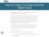 How To Create YouTube Channel in 2021