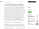 Grocery Online Shopping From Buddybasket