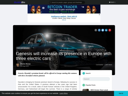 Genesis will increase its electric vehicle lineup in Europe