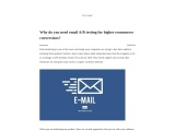 Blog FC- Why do you need email A/B testing for higher ecommerce conversions?