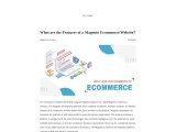 Fc2-What are the Features of a Magento Ecommerce Website?