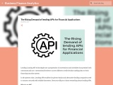 The Rising Demand of lending APIs for Financial Applications