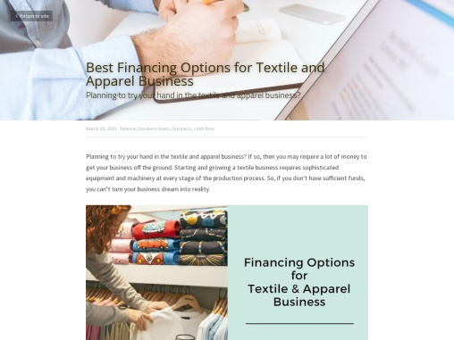 Best Financing Options for Textile and Apparel Business