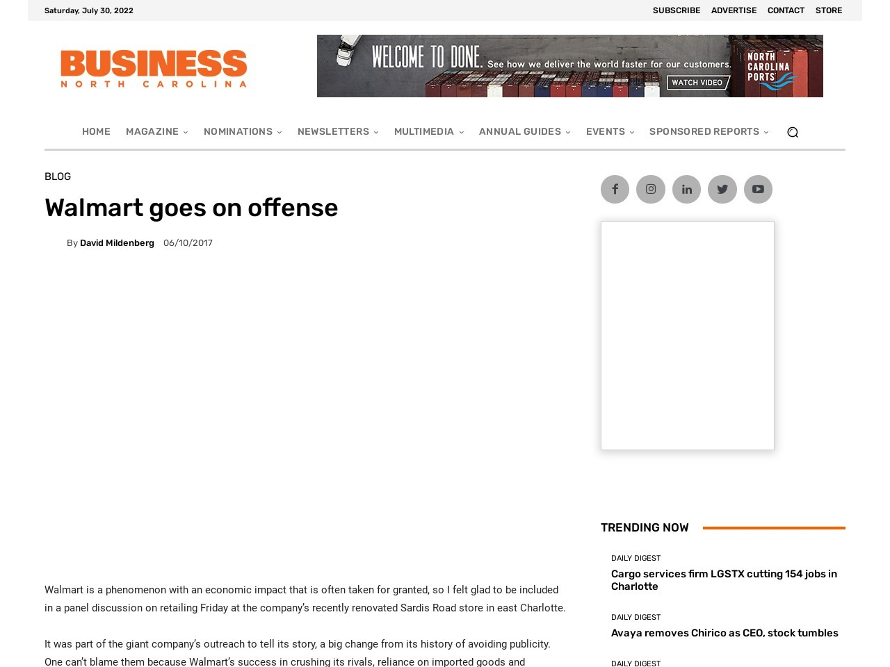 Threatened by Amazon, Walmart goes on the offense
