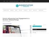 Factors Influencing User Engagement in a Business Website Design