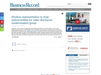 https://businessrecord.com/Content/Default/All-Latest-News/Article/Workiva-representative-to-chair-subcommittee-for-state-disclosure-modernization-group/-3/248/83561