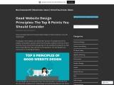 Basic web design principles | Web design style guide