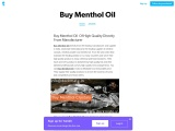 Buy Menthol Oil In USA At Affordable Price