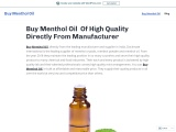 This Is The Place For Buy Menthol Oil