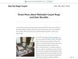 Know More about Washable Carpet Rugs and their Benefits