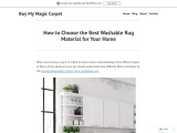 How to Choose the Best Washable Rug Material for Your Home