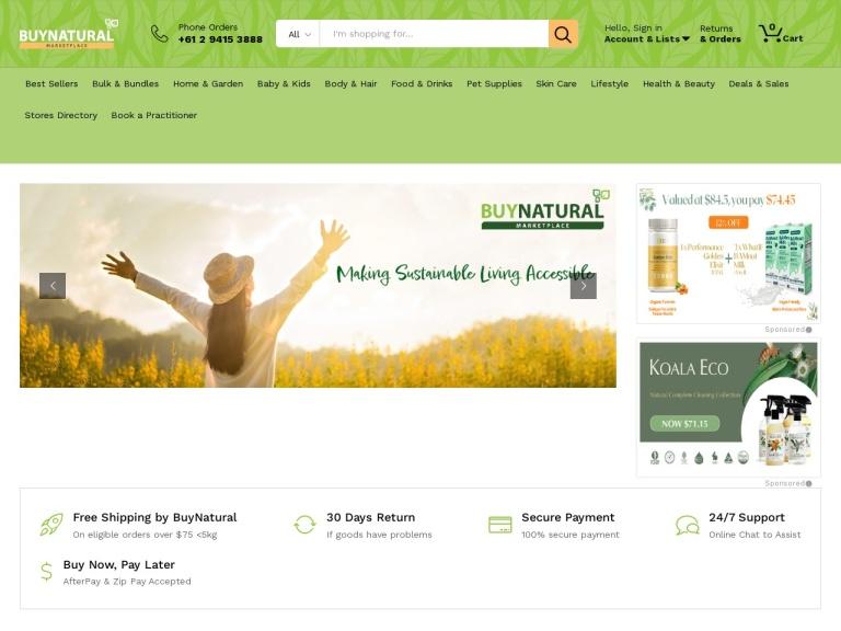 BuyNatural screenshot
