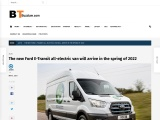 The new Ford E-Transit all-electric van