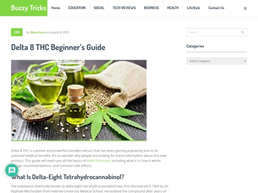 A Brief Guide On Delta 8 THC Tinctures