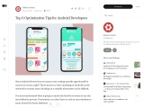 Top 6 Optimization Tips for Android Developers