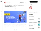 Web Development Trends and the Latest Web Technology Stacks in 2021