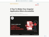 8 Tips To Make Your Angular Application More Accessible