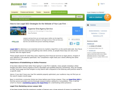 How to Use Legal SEO Strategies for the Website of Your Law Firm – Business Network