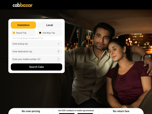 Taxi For Outstation | Outstation Taxi | Outstation Cabs | Online Cab Booking