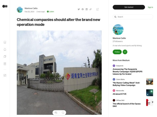 Chemical companies should alter the brand new operation mode